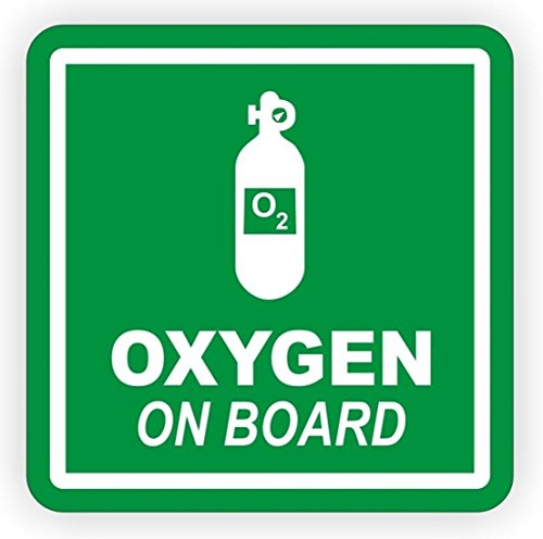 1-PCs Excelling Popular Oxygen On Board Vinyl Stickers Sign Weatherproof Off Road Decal Camper Decor Size 4