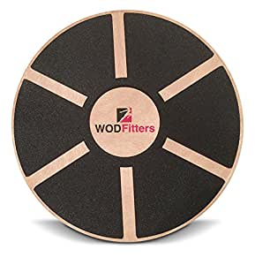 "WODFitters Balance Board - Premium Wooden Wobble Board - 16"" Round Balance Trainer - Fit Board / Exercise Board For Core Training Fitness Workouts, Physical Therapy & Rehabilitation - w/ Carrying Bag"