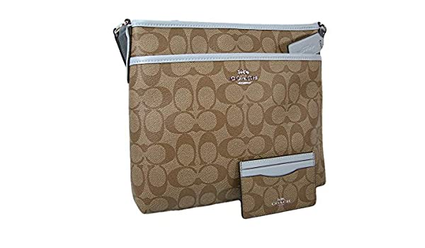 41375b223 New Coach C Signature Purse Crossbody Bag Khaki Blue: Amazon.ca: Shoes &  Handbags