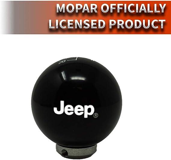 Speed Dawg M501JP-EW-6RDR-UM Jeep Officially Licensed 6 Speed Reverse Lower Right Shift Knob for 2007-2018 Wrangler JK Black//White