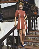 Carole Landis 1950'S Pin-Up Pose In Short Skirt Standing On Staircase 16X20 Canvas Giclee