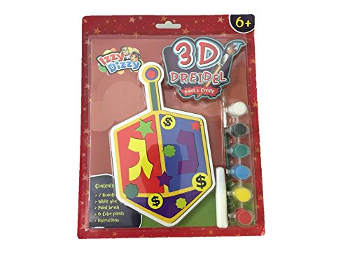 Izzy 'N' Dizzy Chanukah 3D Dreidel Craft Kit
