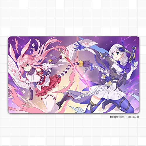 Anime Mouse pad White-1, Pink Octagonal Cherry 6,1000x400mm, 3mm