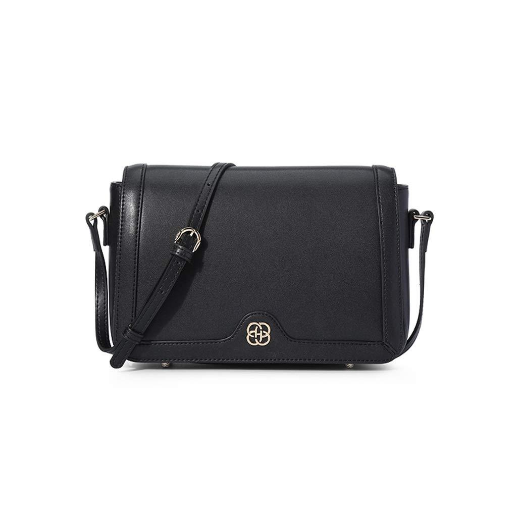 新しい革女性メッセンジャーバッグ、野生の女性のショルダーバッグシンプルな小さなスクエアバッグ (色 : 黒, サイズ さいず : 25*8*17cm) B07P3WXM43 黒 25*8*17cm