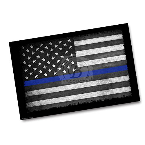 Brotherhood Thin Blue Line American Flag 24x36 Inch Poster
