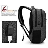 CoolBELL Laptop Backpack 15.6 Inch Bag With USB Charging Function / Casual Travel Rucksack / Water-resistant Knapsack / Light-weight Protective Day Pack For Men / Women / Teens (Black)