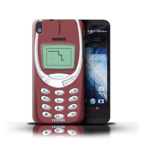 Kobalt® Imprimé Etui / Coque pour HTC Desire 816 / Nokia 3310 rouge conception / Série Portables rétro