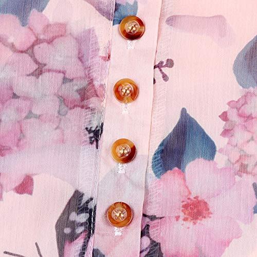 Blouse Loose Floral Femme T Tops Printemps Orange 5XL Soie Longues Sexy Shirt Impresssion Automne Chic S Blouses Solike Grande Mousseline de Taille Casual Manches en 67waCnqE