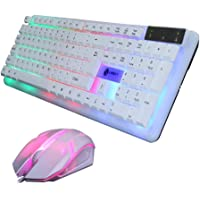 LISJFS T11 Rainbow LED Mechanical Gaming Keyboard with Mouse