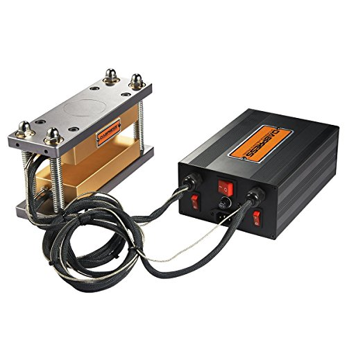 "Dabpress dp-rp37 DIY Anodized 3x7"" Rosin Press Cube Kits With Best Temperature Control Box of Dual Heaters, Build Your Own High Yield Hydraulic Press Machine Solventless Oil Extractor"