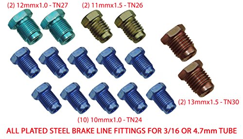 (Metric Brake Line Fitting Kit For 3/16