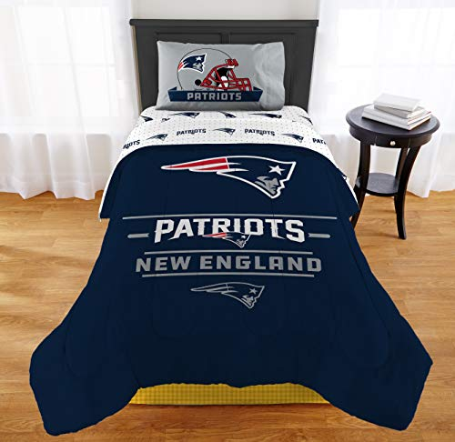 """Nfl Full Comforter Bedding - The Northwest Company NFL New England Patriots """"Monument"""" Twin/Full Comforter #318934799"""