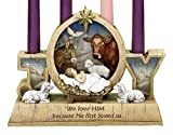 9'' Advent Candle Holder - Advent Wreath - Baby Jesus and Barn Animals