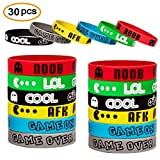 Video Game Bracelets Party Favor Gamer Birthday Supplies Goody Bag Kids Teen Tween Size Wrist Bands 30 Pack