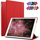 iPad Air 2 Case, ROARTZ Red Slim Fit Smart Rubber Coated Folio Case Hard Shell Cover Light-Weight Auto Wake/Sleep For Apple iPad Air 2nd Generation A1566/A1567 Retina Display