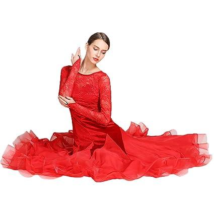 ZTXY Latino Vestidos Mujeres Latino Vestido para niñas Vestido Lentejuelas Latino Vestido niño Tango vals Danza