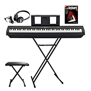 yamaha p45b digital piano basic bundle package musical instruments. Black Bedroom Furniture Sets. Home Design Ideas
