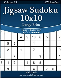 image about Jigsaw Sudoku Printable called Jigsaw Sudoku 10x10 High Print - Straightforward toward Serious - Amount