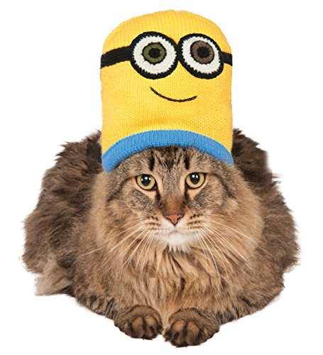 Minion Bob Knit Cat Headpiece, NS (Minion Cat Costume)
