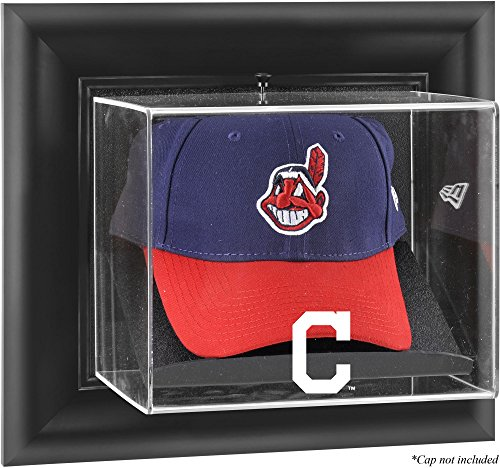 Display Cleveland Baseball Indians (Mounted Memories Cleveland Indians Framed Wall Mounted Logo Cap Display Case)