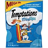 Temptations MixUps Surfers Delight Treats for Cats, 6.3 oz with tuna, shrimp & salmon flavors For Sale