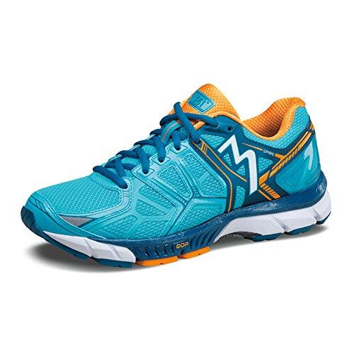 361 Women's Spire Running Mesh, Rubber Sneakers Aqua Blue/Marigold