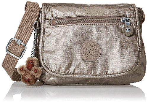 (Kipling Sabian Solid Crossbody Minibag, metallic pewter)