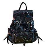 Kennedy Fashion Women Star Printing Oxford Fabric Backpack Simple School Backpack Travel Backpack(black)