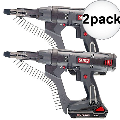 Senco DS212-18V 18V 2500rpm 2'' DuraSpin Auto-feed Screwgun +2 Batt Chrgr 2-Pack by Senco