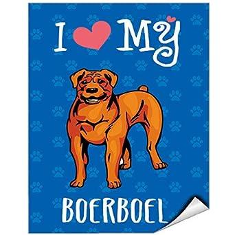 I Love My Boerboel Dog Vinyl Label Decal Sticker Vinyl Label