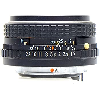 amazon com smc pentax m 50mm f1 7 manual focus lens camera photo rh amazon com pentax manual focus lenses pentax manual lens