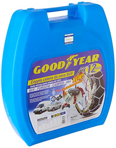 """Goodyear 77933 """"12mm"""" Chaines à neige 12 mm, Taille 235, Convient pour voitures, SUV, 4×4 , Camions légers et camping-cars et fourgons"""