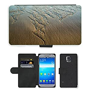 PU LEATHER case coque housse smartphone Flip bag Cover protection // M00151165 Playa Long Reef Sydney Australia // Samsung Galaxy S5 S V SV i9600 (Not Fits S5 ACTIVE)