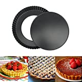 Nonstick 12 Inch Quiche Pan, Tart Pie Pan with