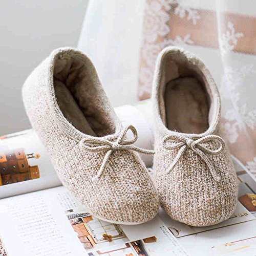 us7 M House Warm Shoes Soft Indoor 39 Non Womens High Wool us8 Grade Ibeauti Slippers 38 Skid Floor agOBqn