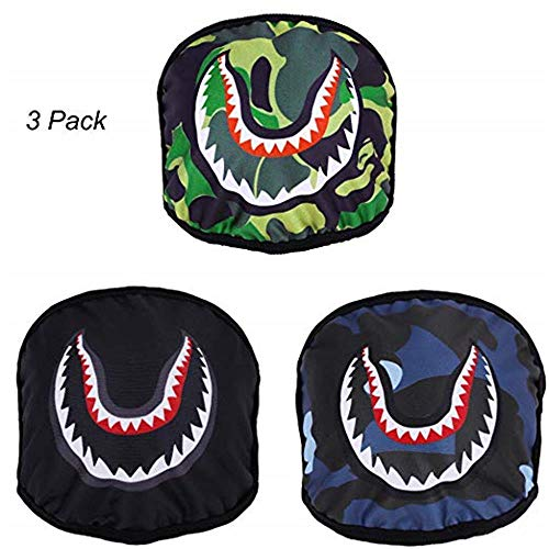 3 Pack Shark Pattern Mouth Mask Unisex Breathable