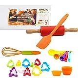 Kids Real Baking Kits Pastry Cooking Kit Muffin Cupcake DIY Kids' Baking Supplies 28-Piece Kids Baking Set by TOSSOW