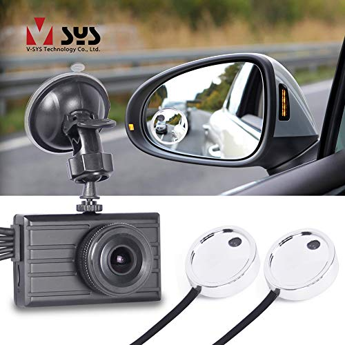 VSYSTO Dash Cam DVR System 1080P Front & Side View Blind Spot Waterproof Lens,Night Vision,G-Sensor Camera for Car/Bus/Trailer/RV/Truck (X2V-R8)