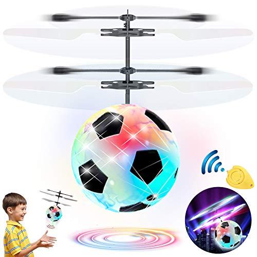 Flying Ball Drone, Kids Flying Toys Boys Girls Light Up Ball Drone RC Infrared Induction Helicopter with Remote Controller UFO Aircraft Toys Games Toys for 1 2 3 4 5 6 7 8 9 10 Year Old Indoor Outdoor by AMENON (Image #1)