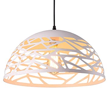 WDFZDD Lámpara LED, Lámpara De Araña De Metal, Blanco, con Bombilla LED Edison