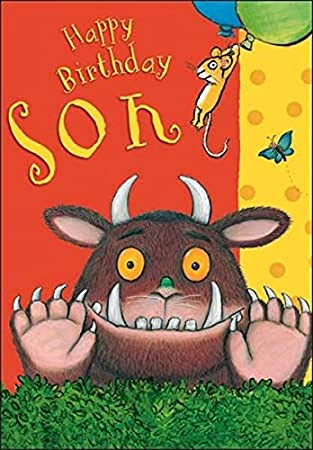 Greetings Card Wdm6027 Birthday Card Gruffalo Son Birthday