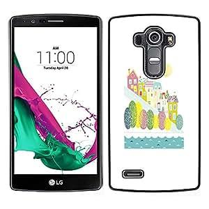 """Pulsar Snap-on Series Teléfono Carcasa Funda Case Caso para LG G4 , River City otoño de la caída de los niños Los niños blancos"""""""