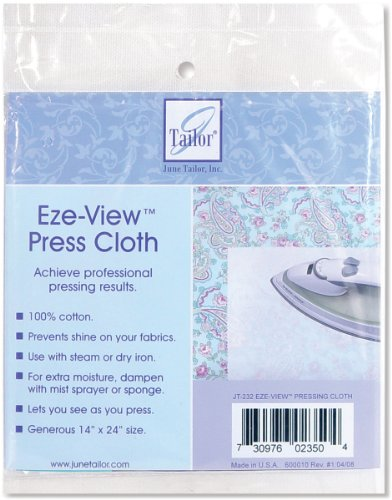 June Tailor Eze-View 24-by-14-Inch 100% Cotton Press - Press Cloth