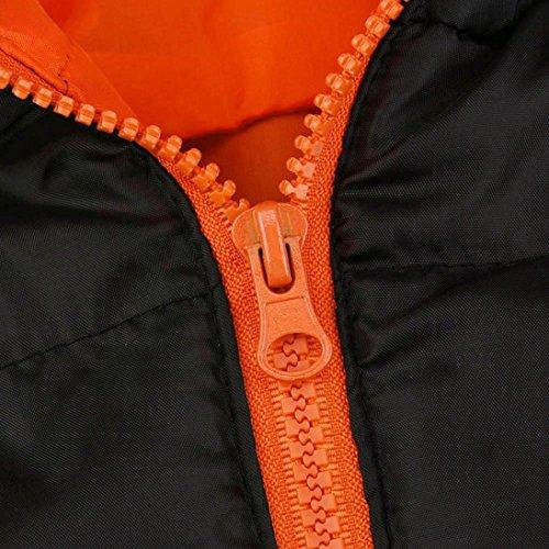 Anorak con Manadlian Casual invierno Delgado Chaquetas con naranja abrigada Una capucha Sobretodo chaqueta Abrigo grueso Hombres de capucha hombre 0qwqE6A