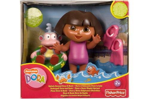 Mattel K8971 – Muñeca de Dora la Exploradora y Botas para baño