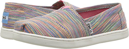 Classic Flat Girls (TOMS Kids Girl's Seasonal Classics (Little Kid/Big Kid) Blue Aster Multi Space Dye Loafer)