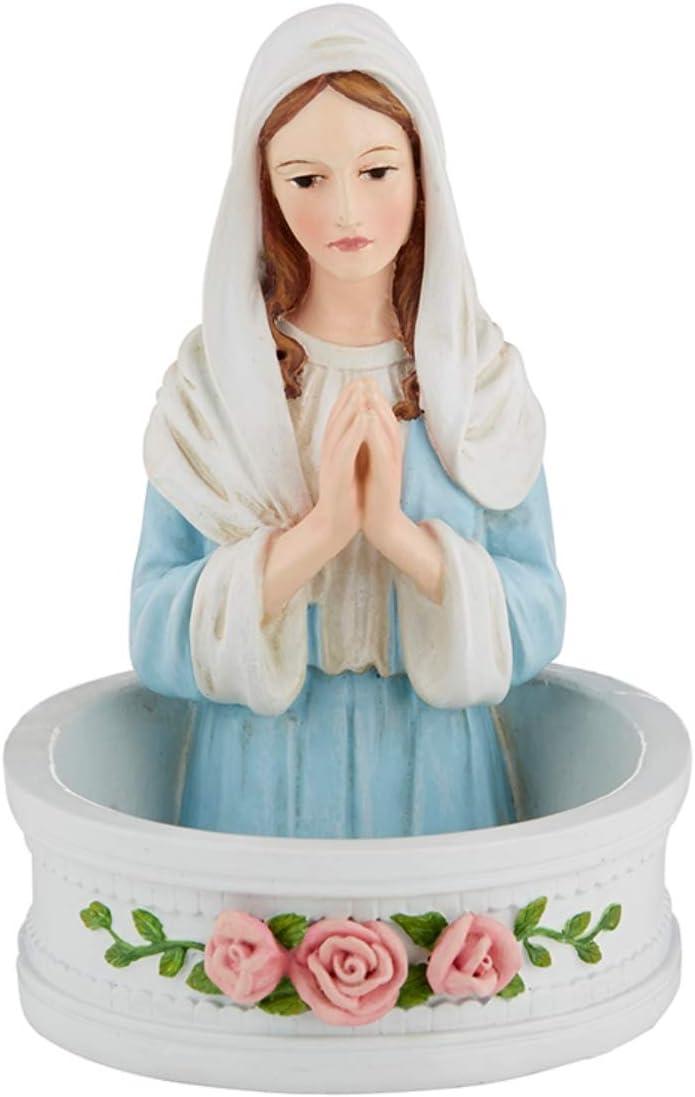 Autom Religious Madonna Rosary Holder Statue, Catholic Home Decor, 5 Inch