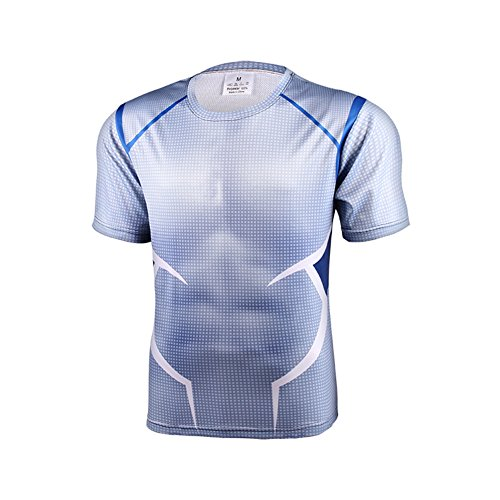 Film Role Sprort Tights With Short Sleeves 3D Printing unisex T-shirt Personal Stereo Running Basketball Training Tops Sweat Tees Captain America Super Hero