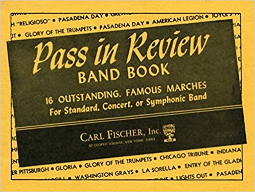Amazon com: Pass in Review Band Book: Solo or 1st B-flat Cornet