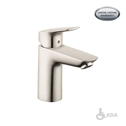 Hansgrohe 71100821 Logis Bathroom Faucet 100mm 7 Inch Brushed